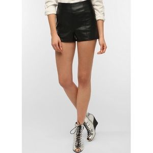 UO Sparkle & Fade High Waist Faux Leather Shorts